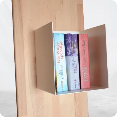 Bücherregal 180 cm - Holz und Stahl
