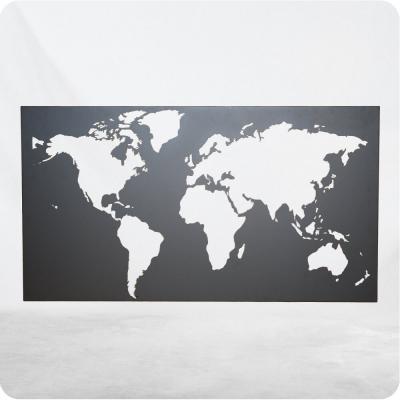 Weltbild aus Stahl - pulverbeschichtet